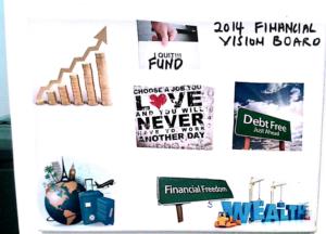 financial vision board