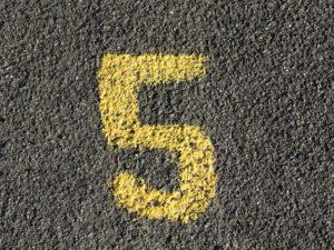 five vision board goals