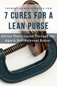7 cures for a lean purse. Advice that has stood the test of time