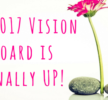 My 2017 Vision Board is Finally Up!