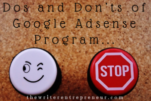 Dos and Don'ts of Google Adsense Program