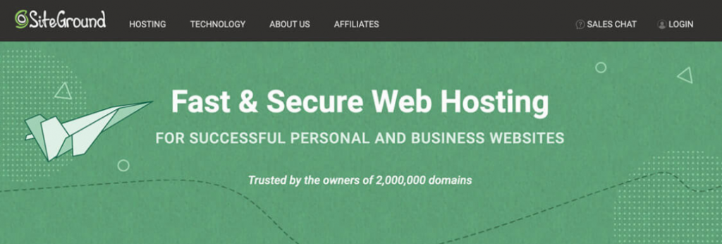 Fast and Secure Hosting With Siteground
