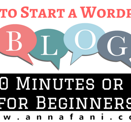 How to Start a WordPress Blog in 30 Minutes or Less for Beginners