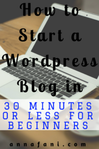 How to Start a WordPress Blog in 30 Minutes or Less for Beginners and Newbies