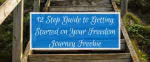 12 Step Guide to Getting Started on Your Freedom Journey Freebie