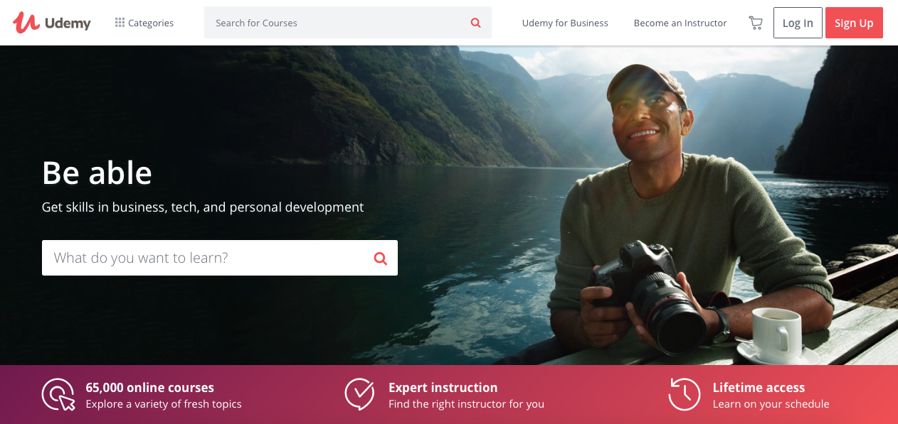 learn anything with Udemy in 2018