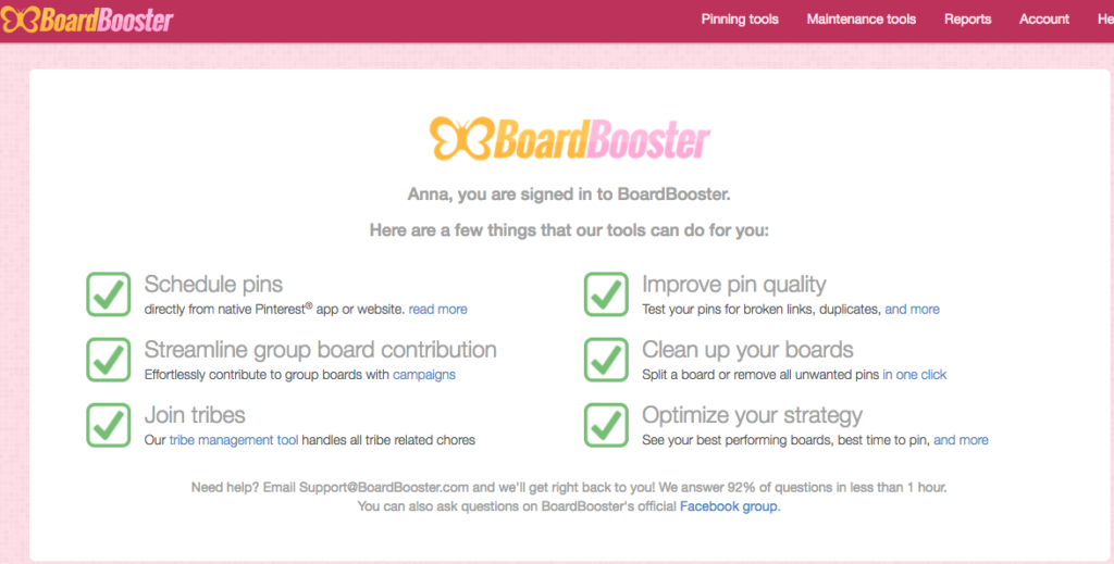 Free Trial with Boardbooster