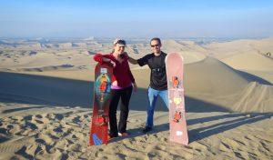 Sand boarding Peru