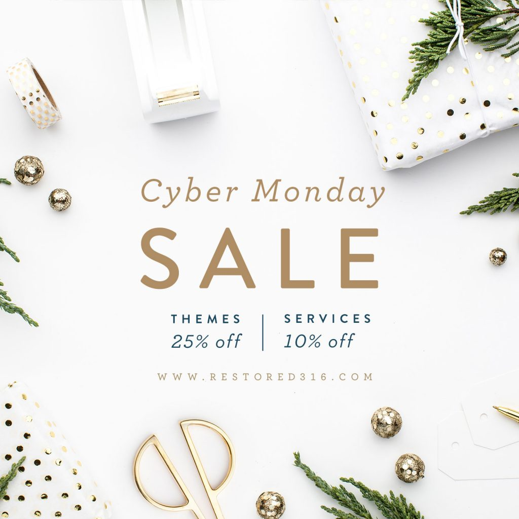 restored 316 cyber monday sale coupon code