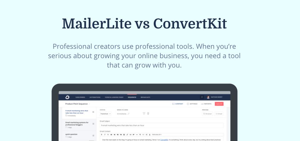 MailerLite vs ConvertKit, which is best