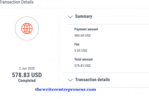 payoneer transaction details and fees