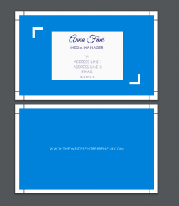 Canva business cards proof