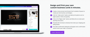 Design and create business cards on Canva within minutes