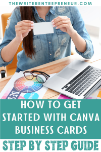 how to get started with canva business cards, step by step guide