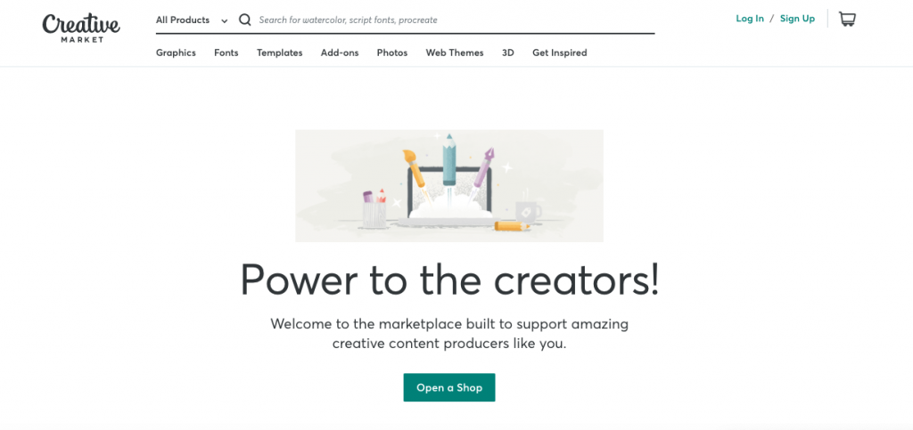 Sell digital products on Creative Market