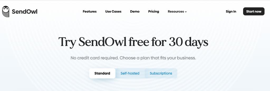 Sell digital products on SendOwl