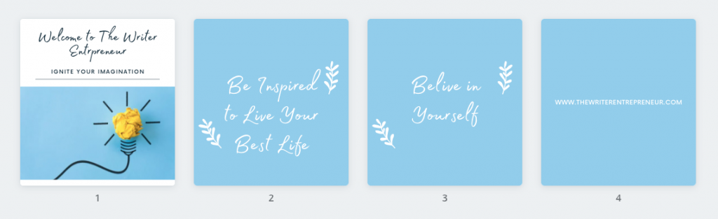 Step 1 - Create Design for Canva Animation